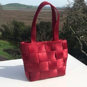 Red Seatbelt Bag Satchel
